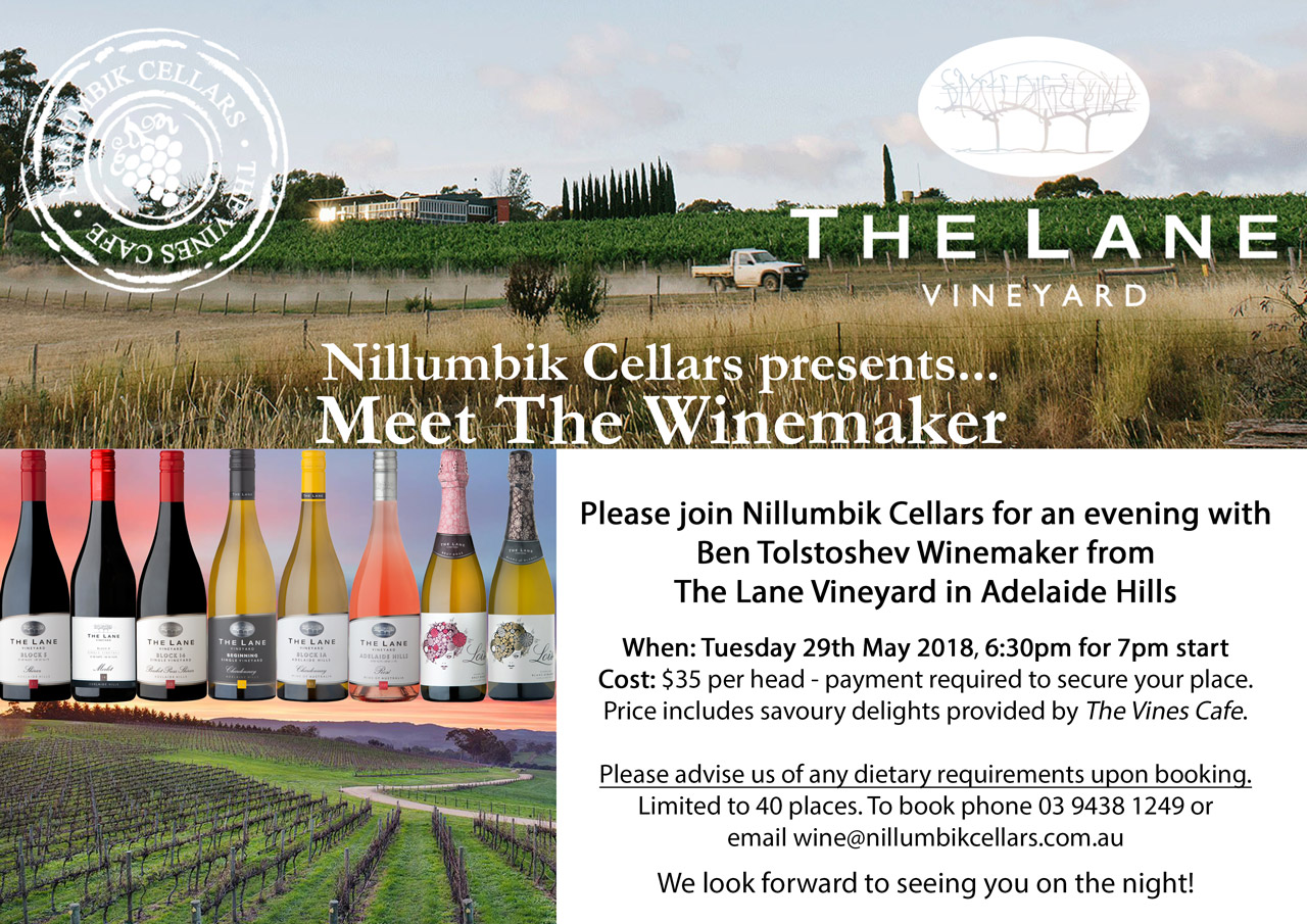 The Lane Meet The Winemaker Image