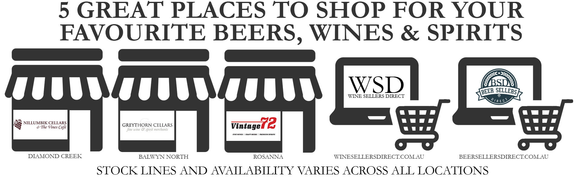 5 Great ways to purchase beer, wine & spirits - Nillumbik Cellars
